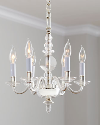 George II Mini Six-Light Polished-Nickel Chandelier