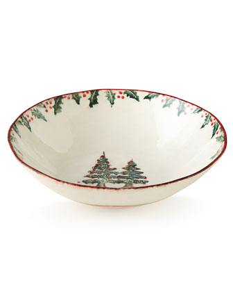 Holiday Round Serving Bowl