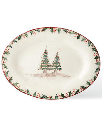 Holiday Oval Platter