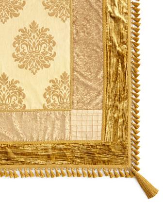 Golden Velvet Table Linens