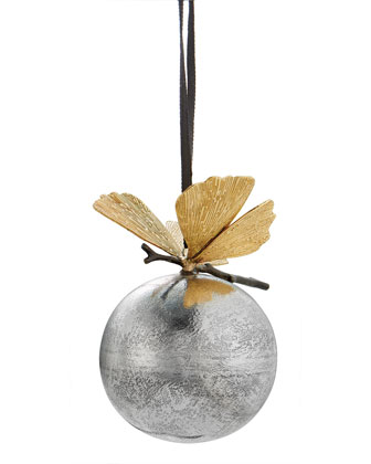 Butterfly Ginkgo Christmas Ornament