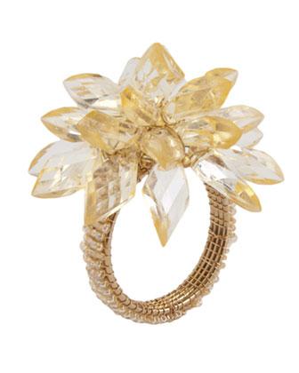 Gold & Silver Placemat, Napkin, & Napkin Ring