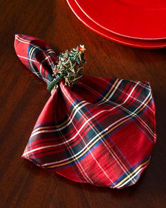 Plaid Napkin & Holiday Napkin Rings