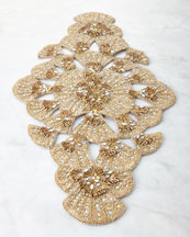 Trevi Champagne-Gold Table Runner