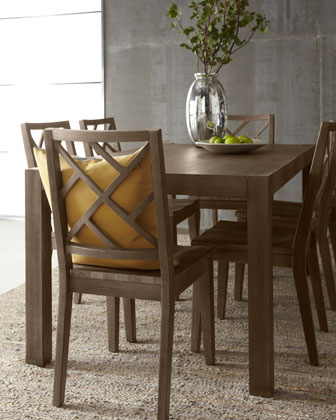 Karington Ash Dining Set with Leaves & Six Chairs
