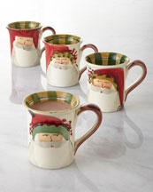 Four Old St. Nick Mugs