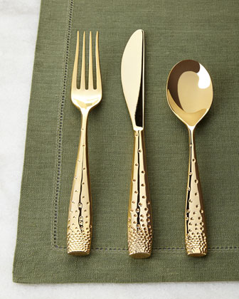 Five-Piece Golden Dazzle Flatware Place Setting