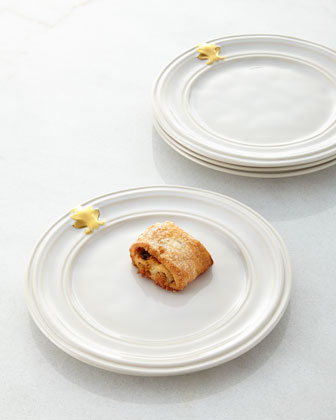 Four Acanthus Cocktail Plates