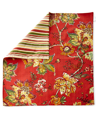 C & F Enterprises Inc Quilted Placemats & Floral Napkins