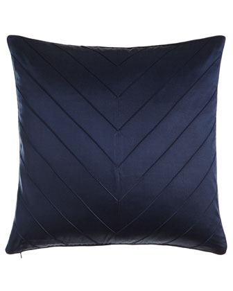 Navy Ella Chevron Pillow, 20