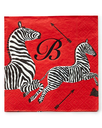 100 Zebras Cocktail Napkins