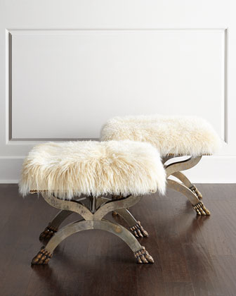 Massey Sheepskin X Bench