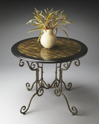 Iron & Stone Foyer Table