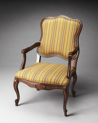 Red-Stripe Accent Chair
