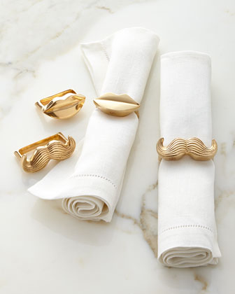 Mr. & Mrs. Muse Napkin Rings, Set of Four
