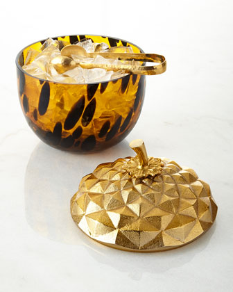 Acorn Ice Bucket with Tongs