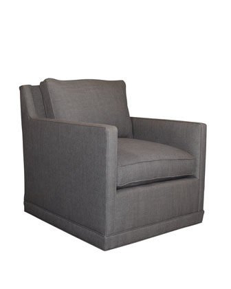 Nina St. Clair Charcoal Tweed Swivel Chair