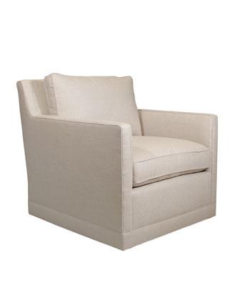 Nina St. Clair Linen-Texture Swivel Chair