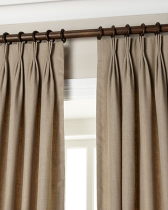 Eastern Accents Pinch-Pleat Linen Curtains