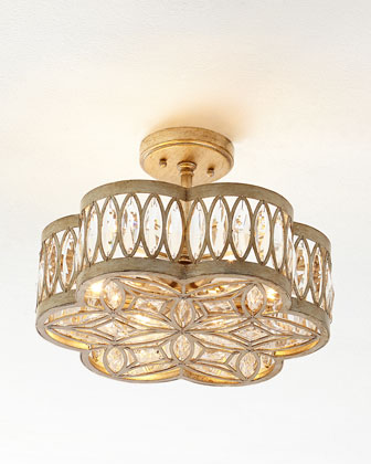 Diamante Six-Light Semi-Flush Ceiling Light
