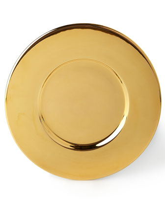 Gold & Marble Clay Charger Plates