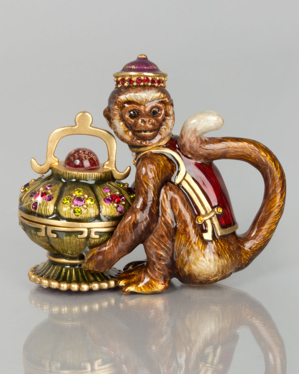 Monkey Box, Multi Colors - Jay Strongwater