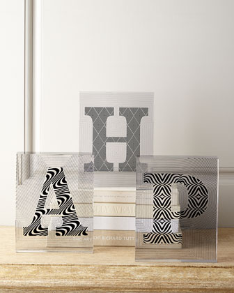 Lucite Letter Blocks