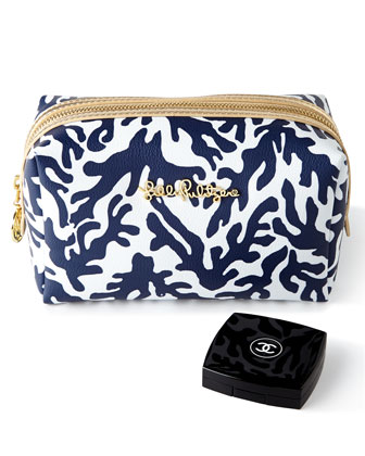 Navy Trunk Show Cosmetic Case & iPad Case