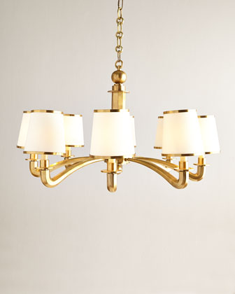 Brass Arm Chandelier