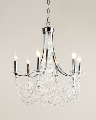 Impressionistic Six-Light Chandelier