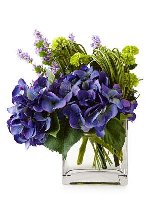 Hydrangea Pom Pom Modular Faux Floral Arrangement