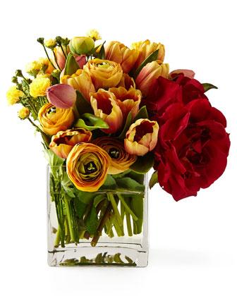 Ranunculus Rose Modular Faux Floral Arrangement