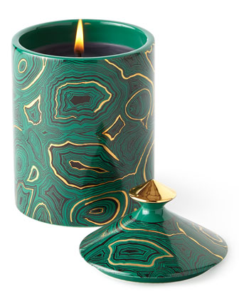 Fornasetti Single-Wick Malachite Candle