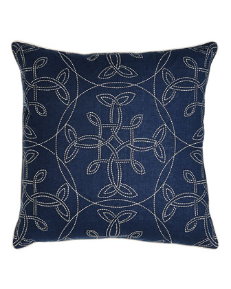 Mora Navy Pillows