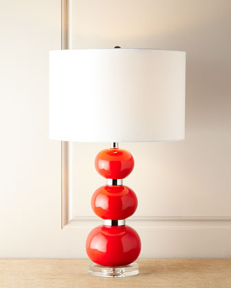 Shelby Red Table Lamp