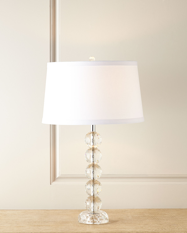 Sophia Stacked Crystal Lamp - Neiman Marcus