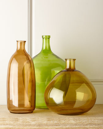 Three-Piece Glass Bottle Set