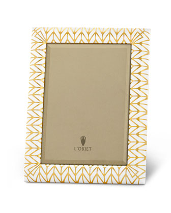 Gold Chevron Photo Frames