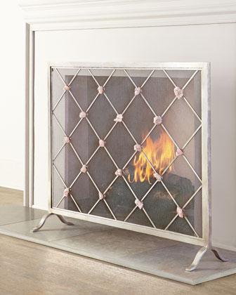 Giallastro Quartz-Accent Fireplace Screen