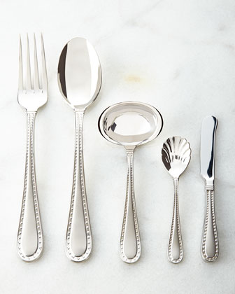 20-Piece Rivets Satin Flatware Service