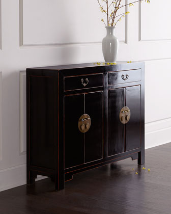 Antique Four-Door Cabinet