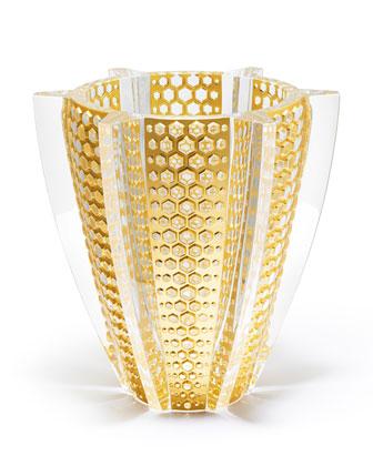 Gold Leaf Rayons Vase