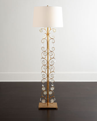 Glass Petal Floor Lamp