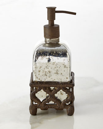 Mercury Glass Vanity Accessories