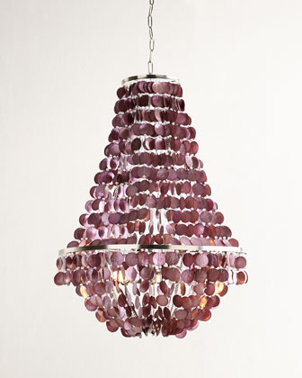 Blythe Three-Light Capiz Chandelier