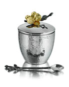 Gold Orchid Mini Pot with Spoon