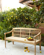 Maya Natural Teak Outdoor Bench