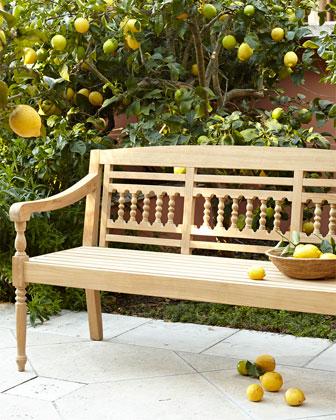 Bennington Natural Teak Outdoor Bench