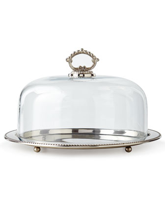 Round Tray with Glass Dome