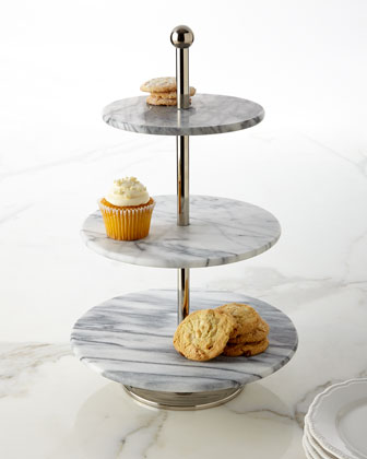 White Marble Three-Tier Server